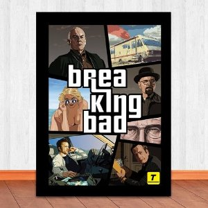 Poster com Moldura - Breaking Bad GTA