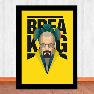 Poster com Moldura - Breaking Bad Yellow