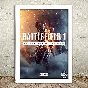 Poster com Moldura - Battlefield 1