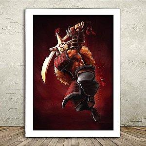 Poster com Moldura - Juggernaut Dota 2