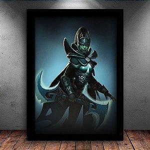 Poster com Moldura - Phantom Assassin M. 02 Dota 2