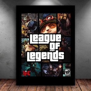 Poster com Moldura - League Of Legends