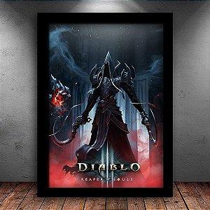 Poster com Moldura - Diablo 3