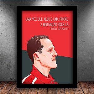 Poster com Moldura - Michael Schumacher