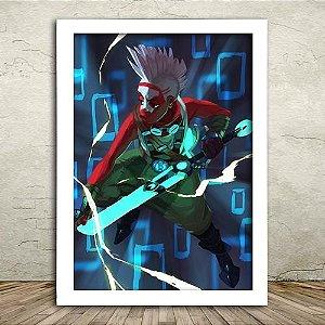 Poster com Moldura - Ekko League Of Legends