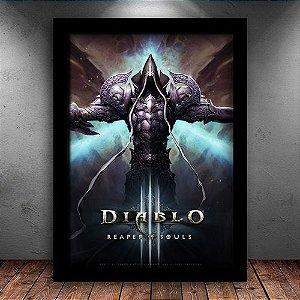 Poster com Moldura - Diablo 3 M.02