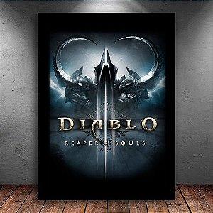 Poster com Moldura - Diablo 3 Reaper of Souls