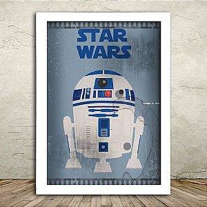 Poster com Moldura - R2D2 Star Wars