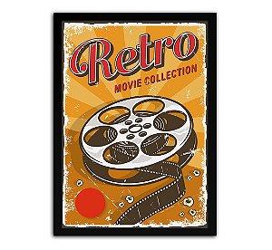 Poster com Moldura - Retrô Vintage Cinema Mo.2