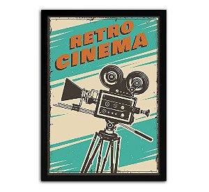 Poster com Moldura - Retrô Vintage Cinema Mo.3