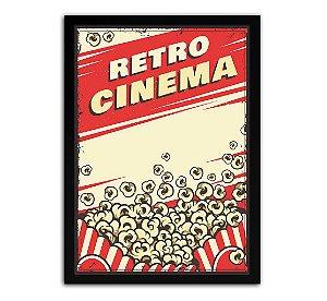 Poster com Moldura - Retrô Vintage Cinema Mo.4