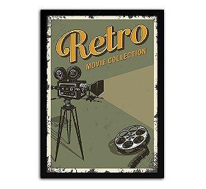 DUPLICADO - Poster com Moldura - Retrô Vintage Cinema Mo.4
