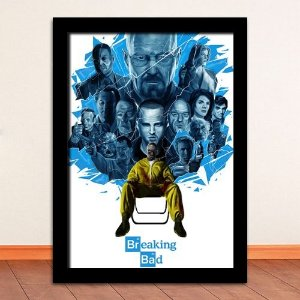 Poster com Moldura - Breaking Bad Crystal