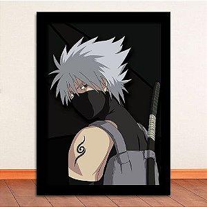 Poster com Moldura - Kakashi Hatake Naruto
