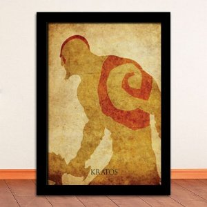 Poster com Moldura - Kratos God Of War