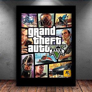 Poster com Moldura - GTA 5