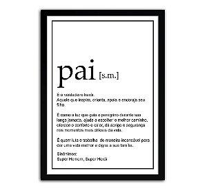Quadro Significado Pai - Presente Dia Dos Pais