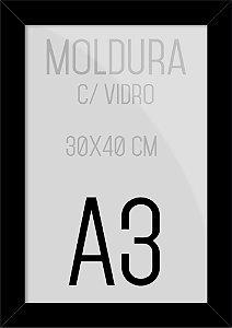 Moldura Quadro A3 35x45cm P/ Posters Fotos Imagens