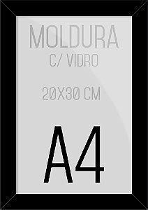 Moldura Quadro A4 25x35cm P/ Posters Fotos Imagens