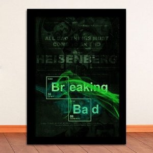 Poster com Moldura - Breaking Bad Green