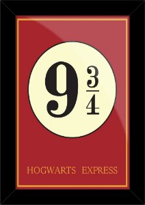 Poster com Moldura - Harry Potter Plataforma 9 3/4