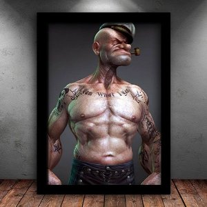 Poster com Moldura - Marinheiro Popeye