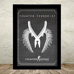 Poster com Moldura - CT Counter Strike GO
