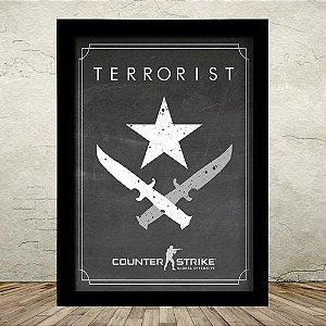 Poster com Moldura - Terrorist Counter Strike GO