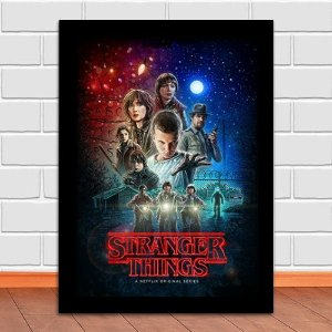 Poster com Moldura - Stranger Things