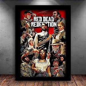Poster com Moldura - Red Dead Redemption