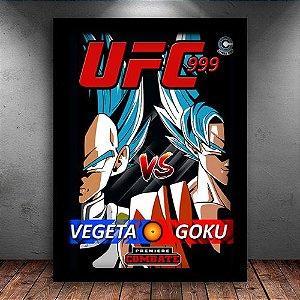 Poster com Moldura - Vegeta VS Goku UFC