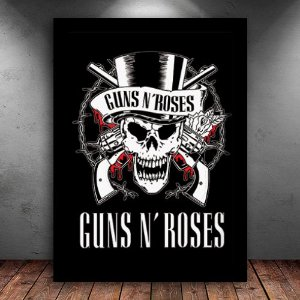 Poster com Moldura - Guns N' Roses