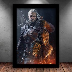 Poster com Moldura - Geralt de Rivia The Witcher