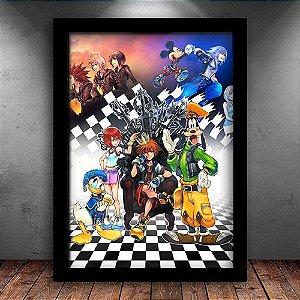 Poster com Moldura - Kingdom Hearts