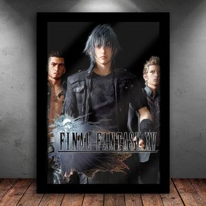 Poster com Moldura - Final Fantasy XV