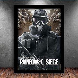 Poster com Moldura - Rainbow Six Siege