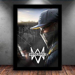 Poster com Moldura - Watch Dogs 2