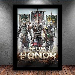 Poster com Moldura - For Honor