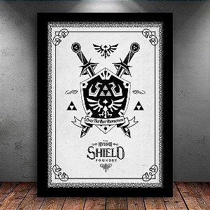 Poster com Moldura - Zelda Shield