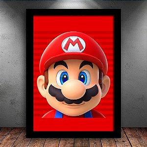 Poster com Moldura - Super Mario