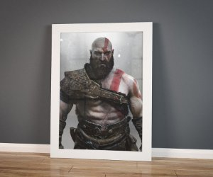 Poster com Moldura - Old Kratos God Of War