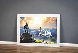 Poster com Moldura - Zelda Breath Of Wild