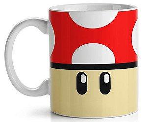 Caneca Geek Cogumelo Vermelho Super Mario