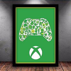 Poster com Moldura - Xbox Gamer