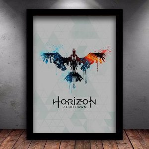 Poster com Moldura - Horizon Zero Dawn