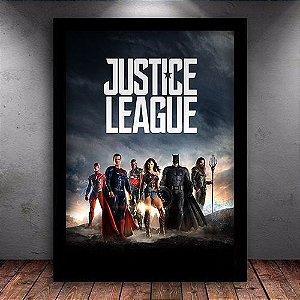 Poster com Moldura - Liga da Justiça