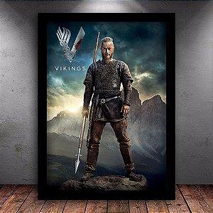 Poster com Moldura - Ragnar Lodbrok Vikings