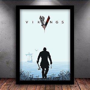 Poster com Moldura - Série Vikings