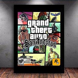 Poster com Moldura - GTA San Andreas