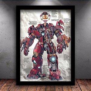 Poster com Moldura - Hulkbuster Specs